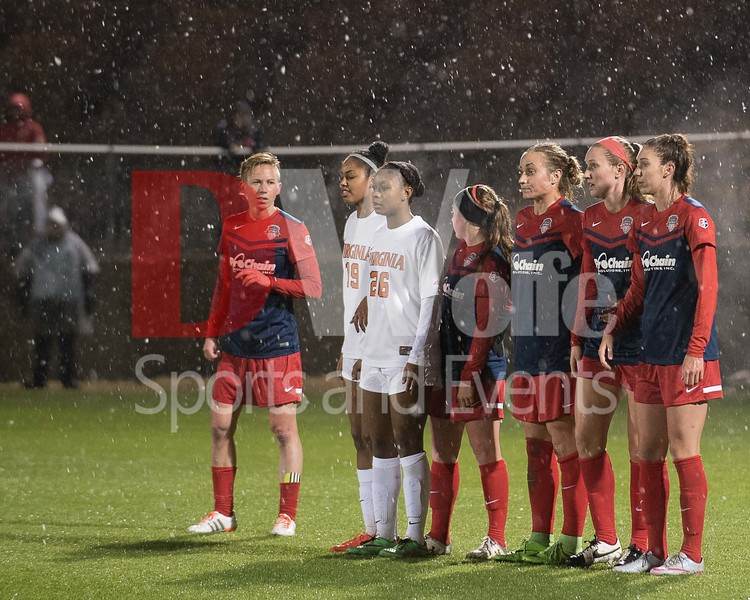 Neither rain or snow, nor gloom of the pitch will keep us from putting up a human wall to stop a free kick.