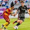 Attacking midfielder Ramon Nunez of the Ft. Lauderdale Strikers and DC United Midfielder Jared Jeffrey