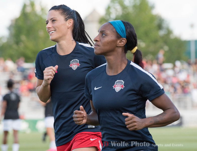 The Washington Spirit Olympians Ali Krieger on the left and Crystal Dunn on the right.