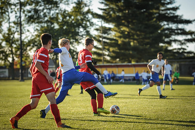10-24-18 Bluffton HS Boys Soccer at Semi-Distrcts vs Conteninental-85