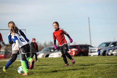 4-21-18 Eva's U8 soccer game -12