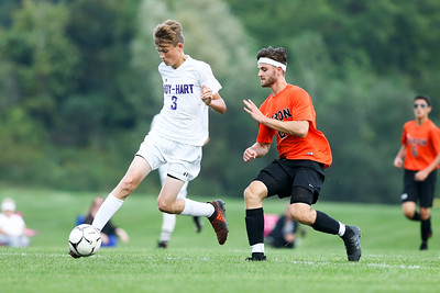 Akron Varsity Soccer vs Roy-Hart. 9/18/18. With a strong 2nd half Tigers take the win over the Rams 3-2.
