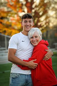 10-17-20 Jon Schriner BHS 2021 Senior with his mom, Liz Schriner-2