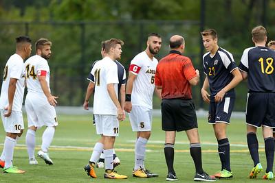 Adelphi Mens Soccer vs Merrimack College   Oct 14th 2017   Credit: Chris Bergmann Photography