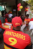 Members of Rio de Janeiro's Angolan community watch Angola Play Portugal during the World Cup at a bar in Rio de Janeiro, June 10, 2006. (Douglas Engle/Australfoto)