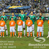 Members of team Mexico line up during the pregame festivities before Soccer action between Bosnia-Herzegovina and Mexico.  Mexico defeated Bosnia-Herzegovina 2-0 in the game at the Georgia Dome in Atlanta, GA.