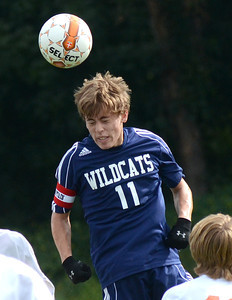 Mifflinburg's Daniel Hayes wins a free ball during their game in Danville Wednesday Sept. 5, 2012.