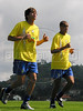 Brazil: Kaka, left, and Rivaldo train with the Brazilian national team in Teresopolis, about 100 miles north of Rio de Janeiro. (Australfoto/Douglas Engle)