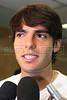 Brazilian soccer star Kaka arrives at a hospital in Rio de Janeiro for treatment in April, 2008. (Australfoto/Douglas Engle)