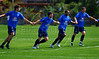Brazil's national soccer players, from left, Kaka, Diego, Mineiro and Lucio, right, joke during a practice in Teresopolis, 100 Km from Rio de Janeiro, Brazil, Nov. 14, 2007. Brazil's team trains for its FIFA WC South Africa 2010 qualifier with Peru next 18 November.(Australfoto/Renzo Gostoli)
