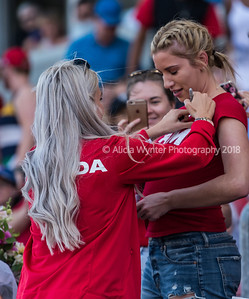 Toronto, Ontario (June 11, 2017) - One of Canada's retired soccer players sign autographs for fans at the BMO Field in Toronto, Ont.   Photo by Alicia Wynter