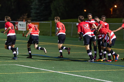 Celebrating De Couvreur's goal