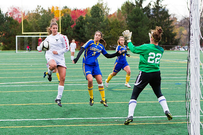 Adrianna Ruggiero in on goal