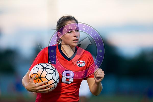 Hannah Dauzat #8 M/F rushes to take the corner Women's Soccer University of Houston vs Southern Miss @ Carl Lewis Stadium September 8, 2017. Houston, TX USA