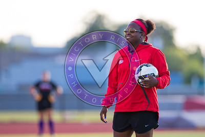 Danesha Adams during the pregame warm up Women's Soccer University of Houston vs Southern Miss @ Carl Lewis Stadium September 8, 2017. Houston, TX USA