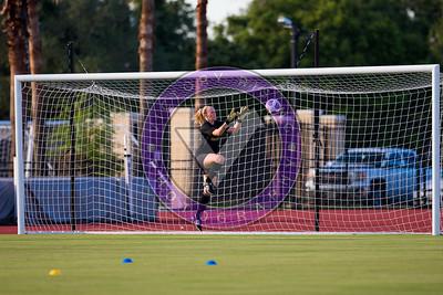 Kendell Mindnich #1 GK during pregame warm up Women's Soccer University of Houston vs Southern Miss @ Carl Lewis Stadium September 8, 2017. Houston, TX USA