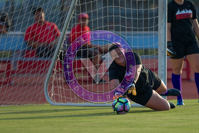 Pregame gk warmup Women's Soccer University of Houston vs Southern Miss @ Carl Lewis Stadium September 8, 2017. Houston, TX USA