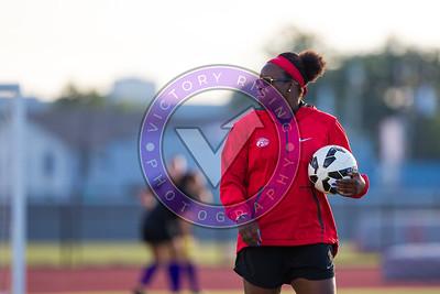 Danesha Adams during the pregame warm up Women's Soccer University of Houston vs Southern Miss @ Carl Lewis Stadium September 8, 2017. Houston, TX USA