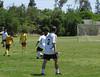 Varsity going for the kick