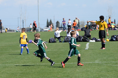 Isaac subs for Theo in their first tournament.