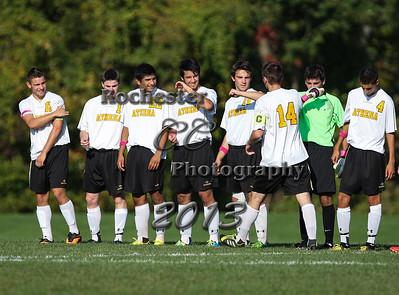 October 1, 2013;  Rochester, NY; USA; Greece Athena Trojans Boys Soccer vs. Gates Chili Spartans at Greece Athena Field  Photo: Christopher Cecere