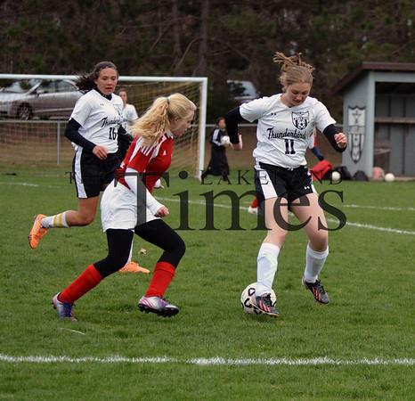 5-12-15 Lakeland Girls' Soccer vs. Wausau Newman