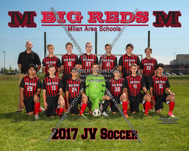 Milan JV Soccer 8x10 Team Photos 2017