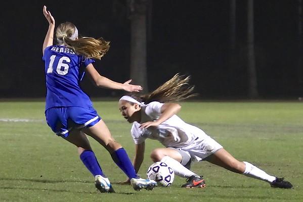 Ponte Vedra Girls' Soccer vs Bartram Trail 12/12/14