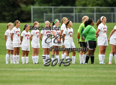 September 3, 2013;  Pittsford, NY; USA; Pittsford Mendon Vikings Girl's Soccer vs. Wayne Eagles at Pittsford Mendon Field  Photo: Christopher Cecere