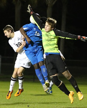 Ponte Vedra Boys' Soccer vs Clay in District Playoffs 1/19/15