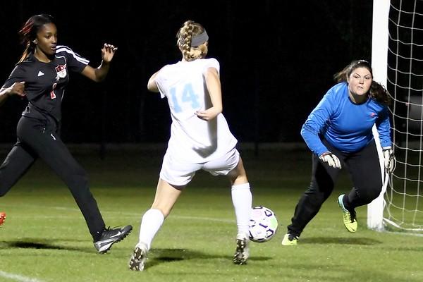 Ponte Vedra Giirls' Soccer vs Terry Parker 1/22/15 regional playoffs