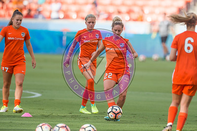 Camille Levin #22 D During the warm up Houston Dash vs Orlando Pride BBVA Compass Stadium Houston, Texas June 17, 2017