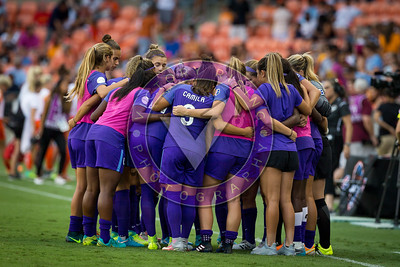 Pregame team huddle  Houston Dash vs Orlando Pride at BBVA Compass Stadium in Houston, Texas June 17, 2017