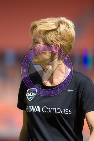 Rachel Daly #3 F warming up for the first game of the season. Houston Dash home opener vs Chicago Red Stars in the 2018 season. Sunday March 25, 2018 at BBVA Compass Stadium