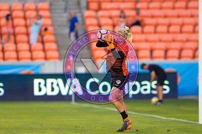 Jane Campbell #1 GK getting a good warm up before the match. Houston Dash vs Utah Royals  Friday March 30, 2018 at BBVA Compass Stadium