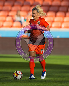 Rachel Daly #3 F warming up. Houston Dash vs Utah Royals  Friday March 30, 2018 at BBVA Compass Stadium