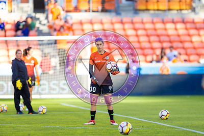 Bianca Henninger #30 GK during warm ups Houston Dash vs Utah Royals  Friday March 30, 2018 at BBVA Compass Stadium