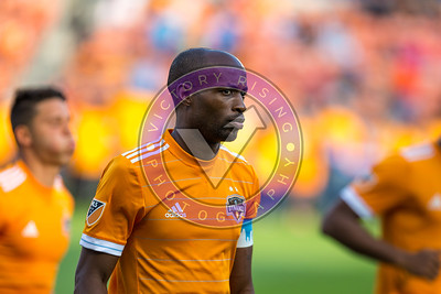 DaMarcus Beasley #7 DF looking focused before the game starts Houston Dynamo 1- 2 Vancouver Whitecaps March 10, 2018 at BBVA Compass Stadium 5pm kick off