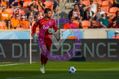 Vancouver Whitecaps Stefan Marinovic #1 GK  looking for the next  option Houston Dynamo 1- 2 Vancouver Whitecaps March 10, 2018 at BBVA Compass Stadium 5pm kick off