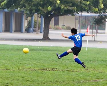 Shintaro shoots for the goal...