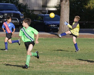 Miles made many great saves in goal.