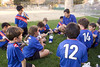 The Team enjoy their post-game snack and reflect on the good work done during the game.