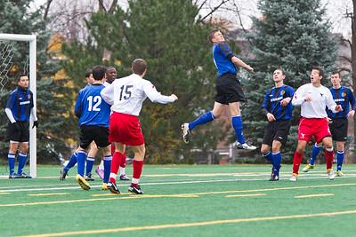 Clearing the goal Clearing a corner kick