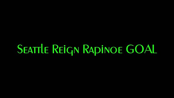 Rapinoe Goal