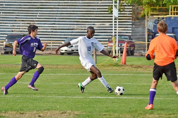 St. B's Boys Soccer on 100714