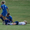 Kate Foran goes down with an injury