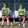 Ashley Edwards and Kate Foran sit out the game.