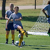 Kate Foran and Chalsey Anderson in pregame warmup