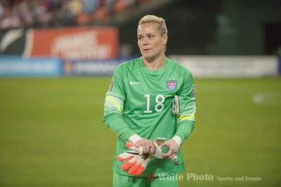 Ashlyn Harris was the starting goal keeper for the match against Haiti