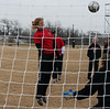 Kaitlin Foran heads a ball